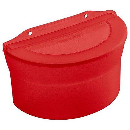 Saleiro Plástico Grande Vermelho 885ml - Sanremo