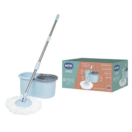 Mop Pocket Balde Mor Limpeza Prática 8L