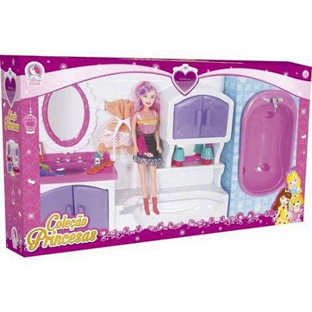 Banheiro Princesas Lua de Cristal Com Boneca
