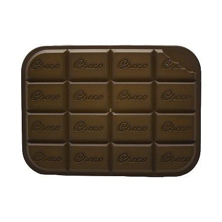 Pote Plástico Retangular C/Tampa Chocolate Pequeno