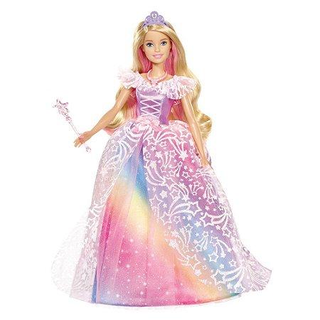 Boneca Barbie Mattel Princesa Vestido Brilhante