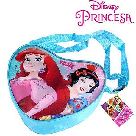 Bolsinha Princesas Formato de Coração Com Alça