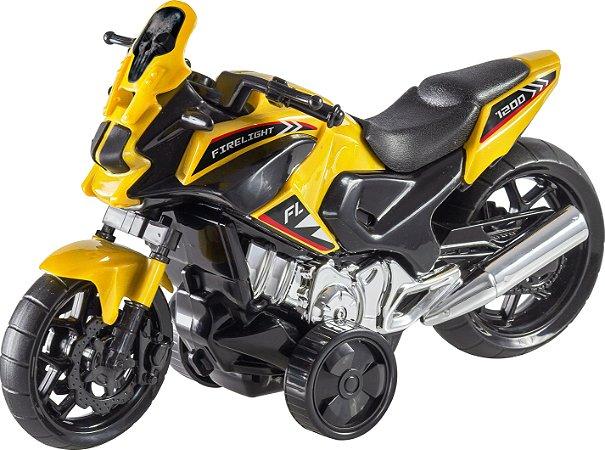 Brinquedo BS Toys  Moto Fire Light Com Fricção