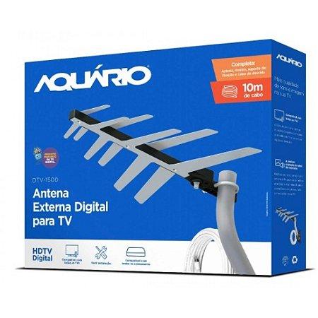 Antena Externa Aquario DTV-1500 2 em 1