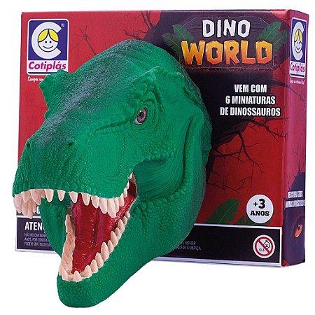 Dinossauro Cotiplás Dino World Cabeça C/Miniaturas
