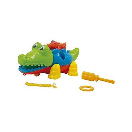 Brinquedo Pica Pau Monte Desmonte Crocodilo