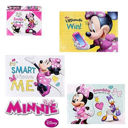 Quebra-cabeça Infantil Etitoys da Minnie 63 Peças