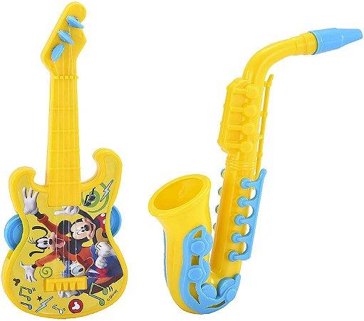 Kit Guitarra e Saxofone Etitoys do Mickey