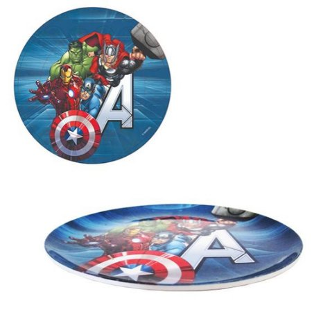 Prato de Sobremesa Infantil Etihome Dos Avengers