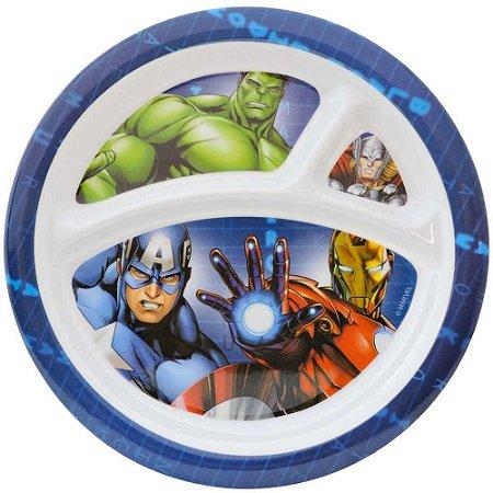 Prato Infantil Com Divisórias Etihome Dos Avengers