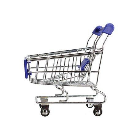 Porta Trecos Zein Mini Carrinho de Supermercado