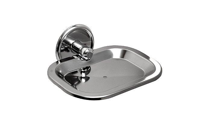Saboneteira em Aço Inox Banheiro Chroma - Steel