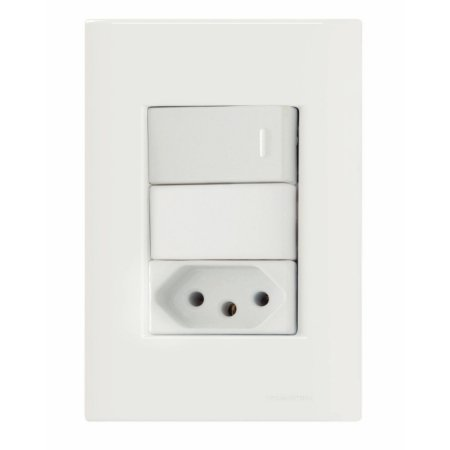 Interruptor Simples+Tomada Tramontina 20A 250V Br