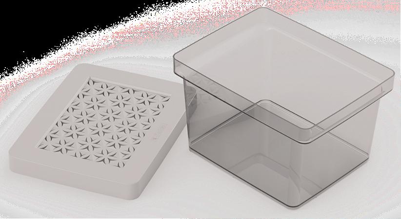 Organizador Multiuso 2,8L c/tp Gelo Ordene