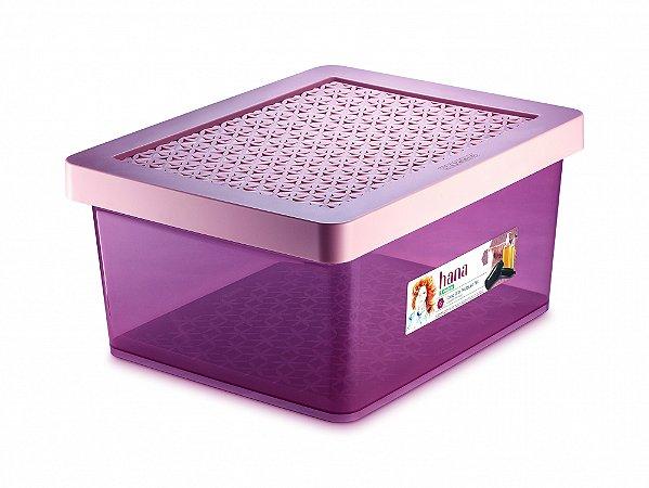 Organizador Alto Multiuso G 1,8L c/tp Rosa Ordene