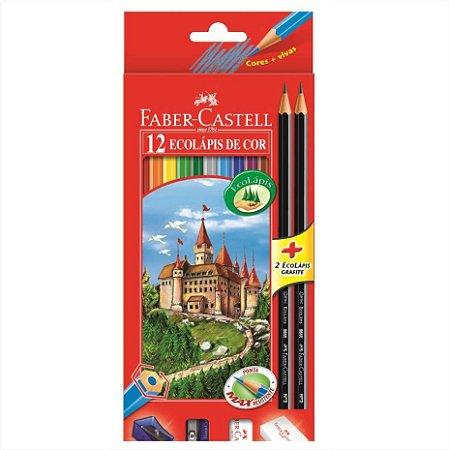 Lápis de Cor Ecolápis 12 Cores Faber Castell