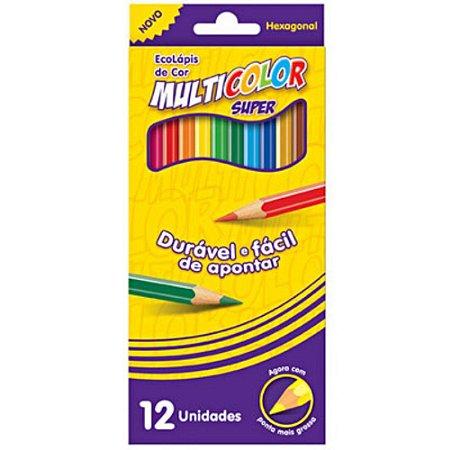Lápis de Cor Ecolápis Super Multicolor
