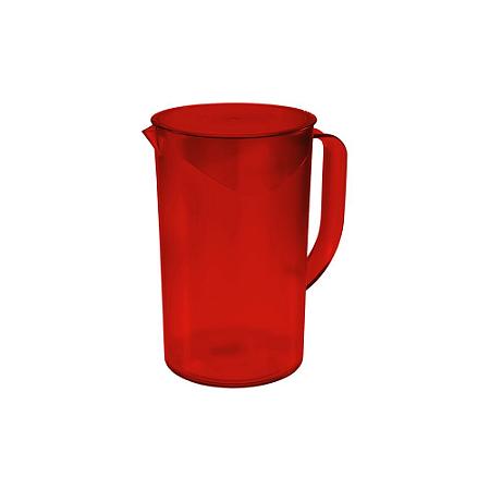 Jarra com tampa Casual 1L Vermelha Coza