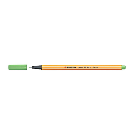 Caneta Stabilo 0,4mm Point 88/033 Verde Neon