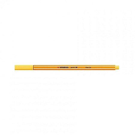 Caneta Stabilo 0,4mm Point 88/24 Amarelo Limão