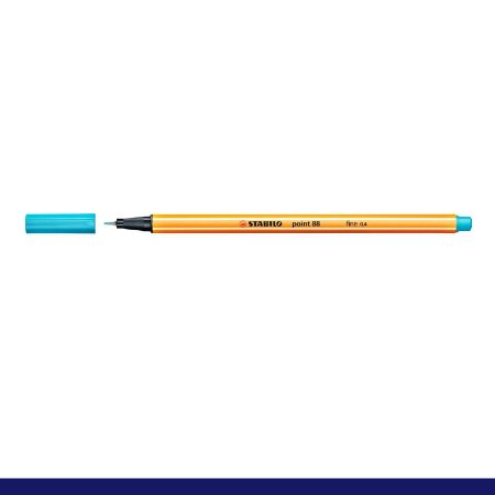 Caneta Stabilo 0,4mm Point 88/57 Azul Claro