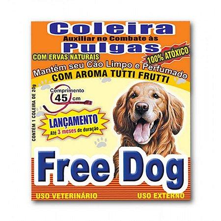 Coleira para Cães Antipulga 45cm Free Dog
