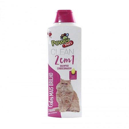 Shampoo/Condicionador para Gatos  700ml Powerpets