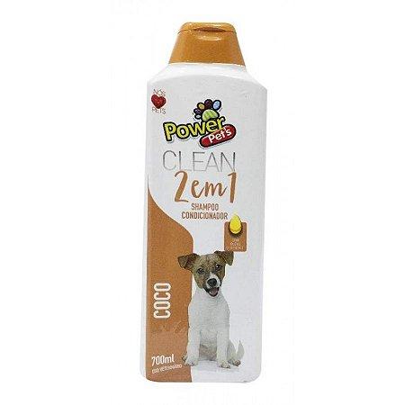 Shampoo/Condic Filhote Power Pets 700ml Coco