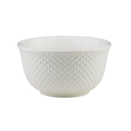 Bowl de Porcelana Lyor New Bone Dots Branco