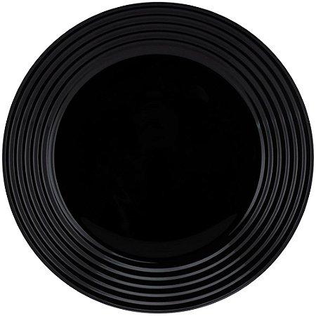Prato Raso de Vidro Luminarc Harena Black 25cm