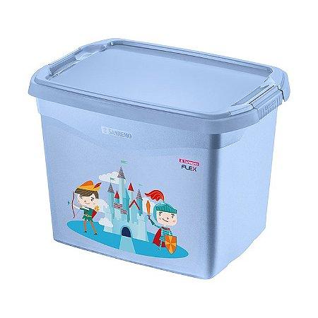 Caixa Plástica Organizadora Sanremo Azul 11L