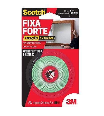 Fita Dupla Fc 3M Scotch Fx Forte 24mm 2m Fx Extr