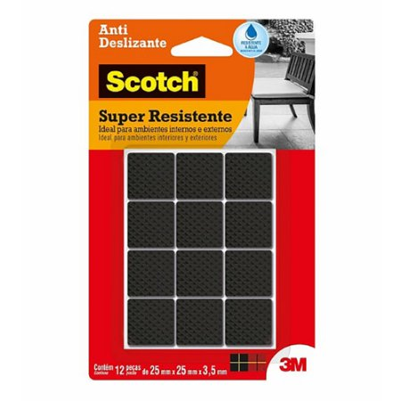 Feltro Antideslizante 3M Scotch Quadrado 25x25mm