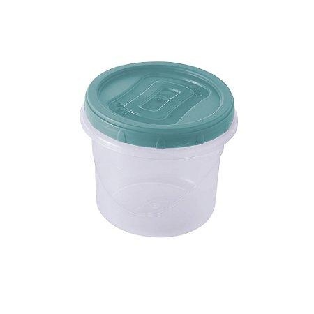 Pote Plástico Plasútil Clic Com Tampa de Rosca 720ml