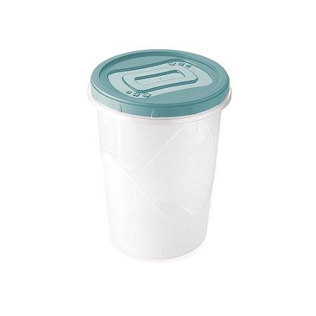 Pote Plástico Plasútil Clic Tampa Com Rosca 1L