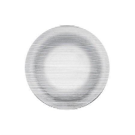 Prato Sobremesa de Vidro Nadir Diamante 19cm N5338