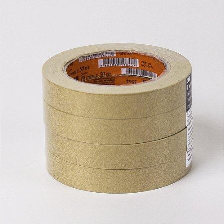 Fita Adesiva Crepe 3M 19mm x 50m Marrom - Unidade