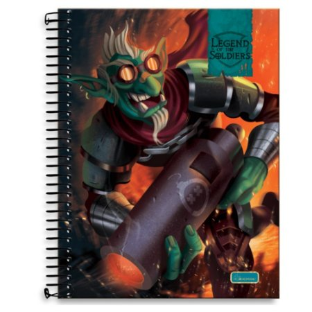 Caderno Universitário 10m 200F Cd Cadersil Legend Of The Soldiers