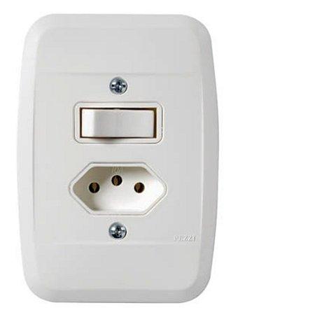 Interruptor Simples+Tomada 2P+T 10A 250V
