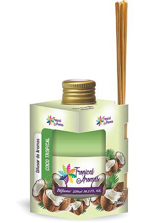 Difusor Tropical Aromas  250ml Coco