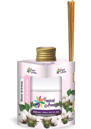 Difusor Tropical Aromas  250ml Flor de Algodão