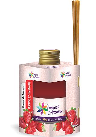 Difusor Tropical Aromas 250ml Morango c/Champagne