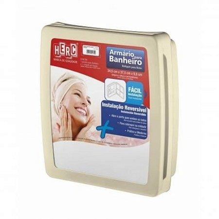 Armário Banheiro Herc Com Espelho Bege 2653