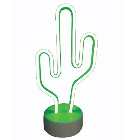 Luminária Cacto de Led Wincy Neon 30cm