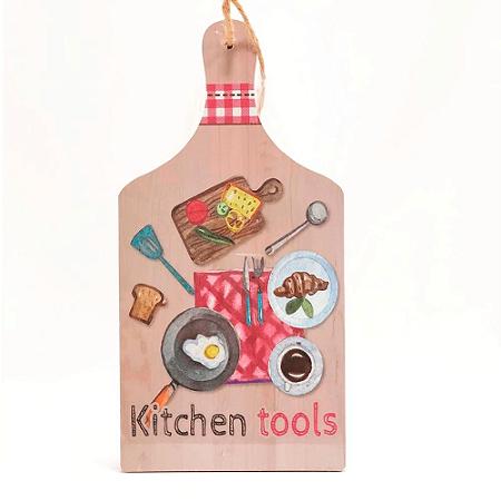 Placa Decorativa Tábua de Cozinha Wincy 34x18cm