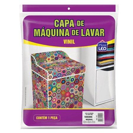 Capa Máquina Lavar Estampada Plast Leo Vinil G