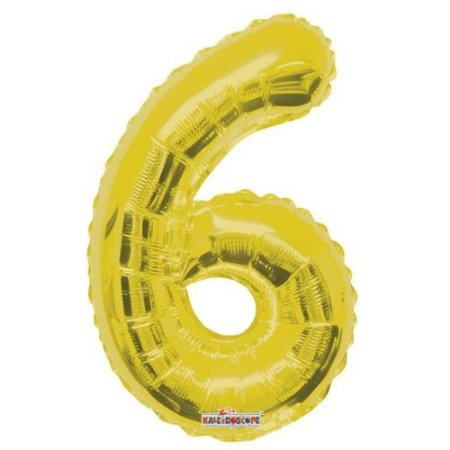 Balão Metalizado Minishape Regina N6 Dourado