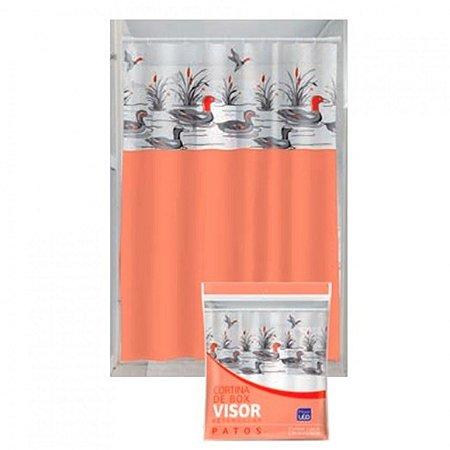 Cortina Box Visor Transparente Plast Leo Patos