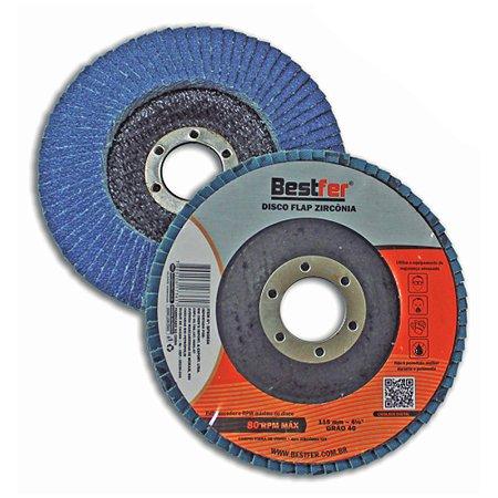 Disco Flap Zircônia 115mm Grão 40