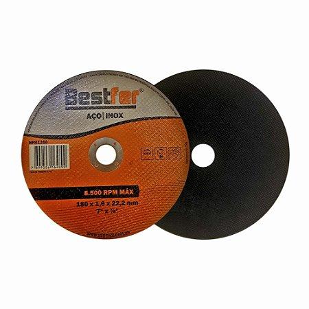 Disco de Corte Bestfer Ferro/Inox 180mm